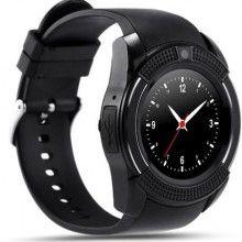 Smartwatch SIKS® touchscreen, cartela SIM, camera, functie bluetooth, alarma, notificari, negru