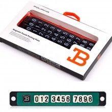 Placuta Magnetica pentru Afisare Numar Telefon Parbriz