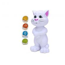 Jucarie vorbitoare inteligent Talking Tom Cat alb