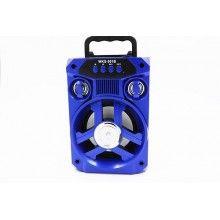 Boxa portabila albastra bluetooth cu lumini WKS-501