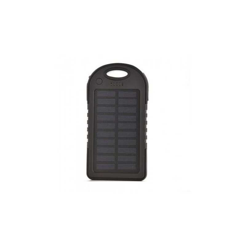 Baterie Externa SIKS® cu Incarcare Solara, Solar Charger Power Bank, 5000 mAh, 2x USB, Lanterna cu 12 LED-uri