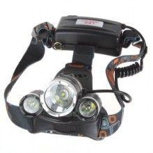 Lanterna frontala din aluminiu, 3 LED-uri