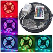 Banda LED EDAR® 5m, multicolora, flexibila, cu telecomanda