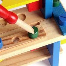 Banc de lucru SIKS® interactiv pentru copii din lemn cu scule, 40 piese