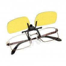 Lentile pentru ochelari CLIPS ON polarizate ideale pentru condus noaptea