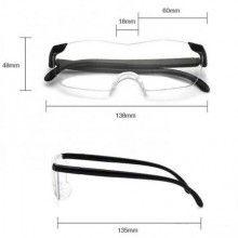 Ochelari protectie SIKS® cu efect de marire, universal, rama neagra