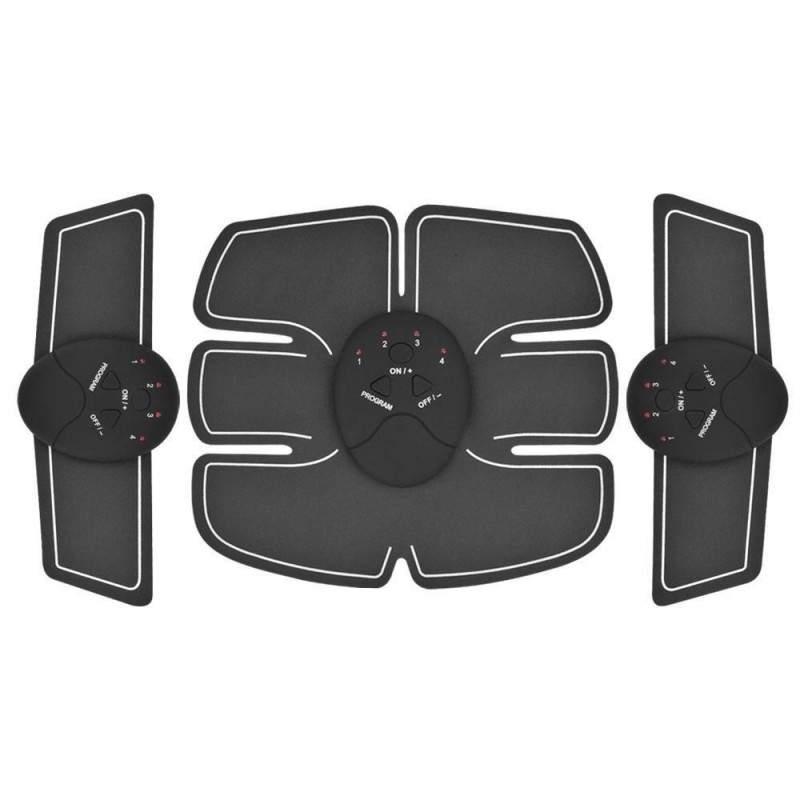 Centura electrostimulatoare Smart Fitness pro Six Pack cu 3 piese si design ergonomic