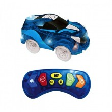 Masinuta SIKS® cu telecomanda, albastra, usor de manevrat, LED-uri luminoase