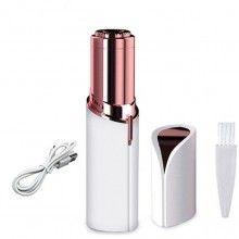 Epilator SIKS® pentru eliminare parului facial cu led si incarcare prin cablu USB, alb