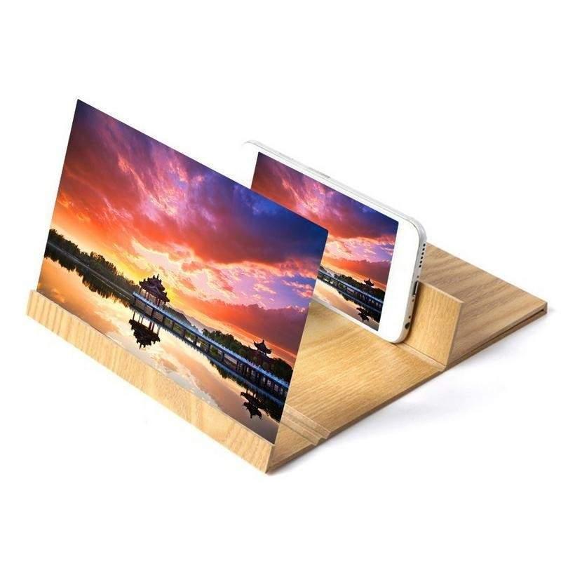 Suport telefon EDAR® cu amplificator de imagine, efect 3D, 12 inch