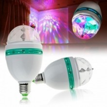 Bec rotativ disco Full Color LED mini party consum 3W