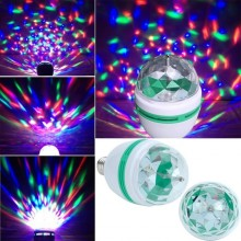 Bec rotativ disco Full Color LED mini party consum 3W