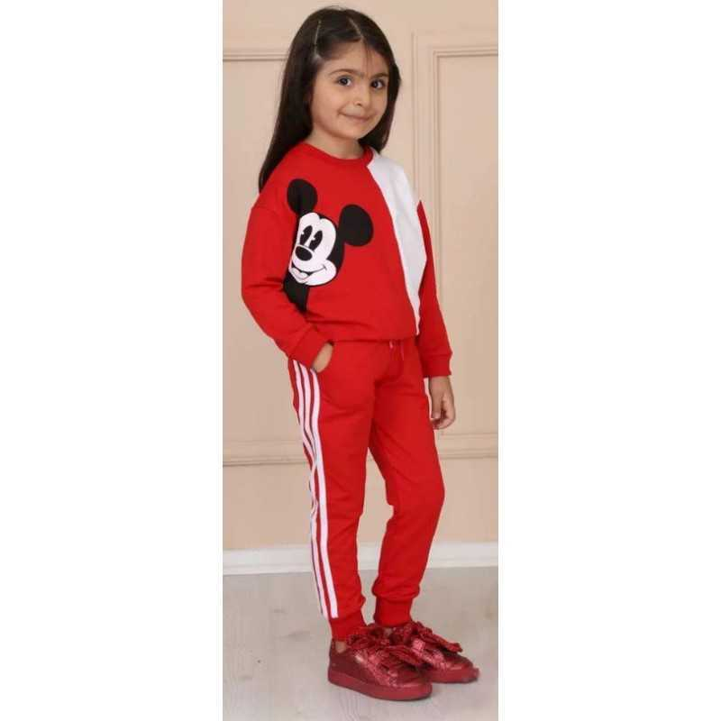 Trening copii rosu cu imprimeu Mickey, masura pentru 2 ani