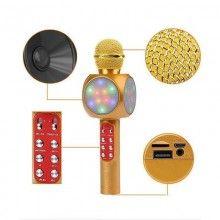 Microfon Karaoke Led cu boxa incorporata