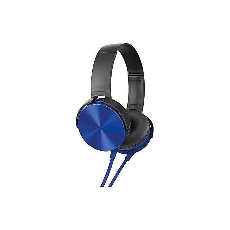 Casti SIKS® cu microfon, conectivitate prin fir, compatibile pentru telefon si laptop, Siks, Albastre