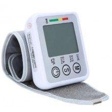 Tensiometru cu afisaj digital pentru incheietura mainii, alb, Siks