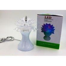 Bec in forma de floare cu led rotativ, multicolor