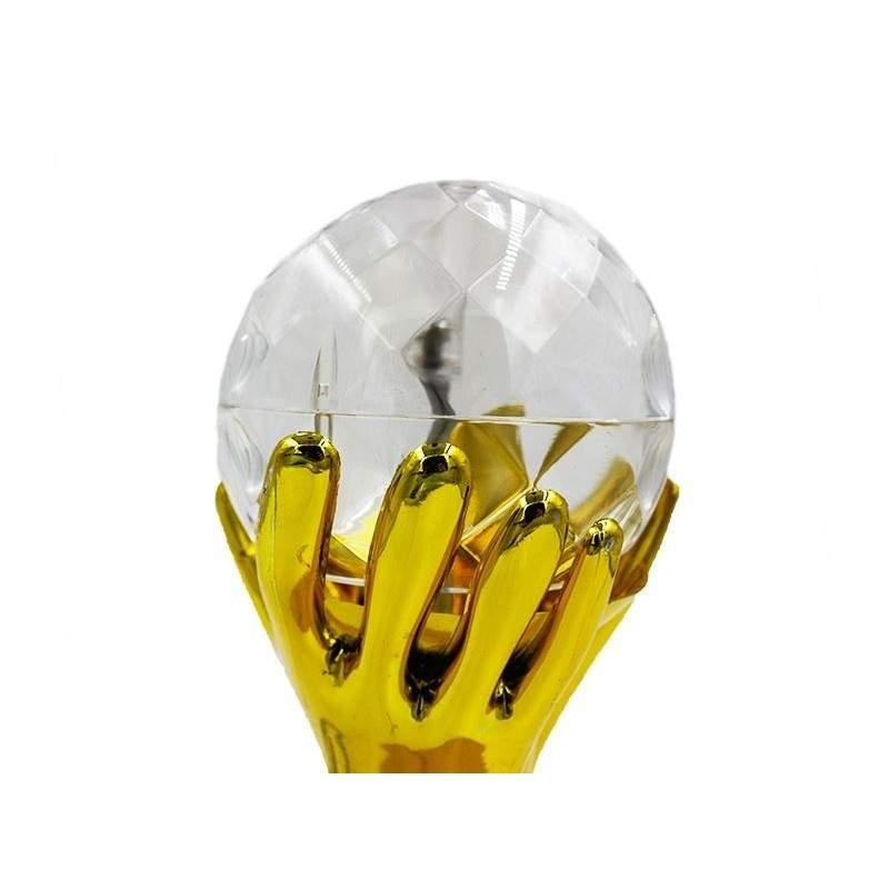 Lampa rotativa cu suport auriu