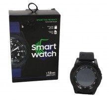 Ceas Smartwatch SIKS® Rotund, multifunctional, Negru