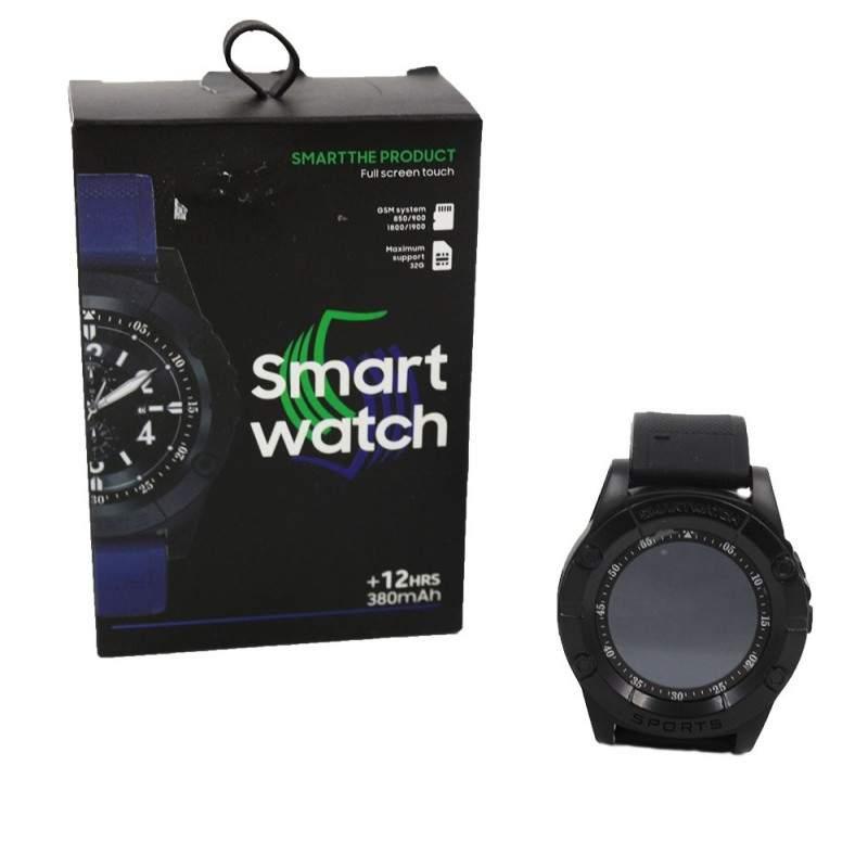 Ceas Smartwatch Rotund, Negru