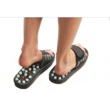 Papuci reflexoterapie SIKS® cu talpa din spuma, pentru barbati, marime 42-43, relaxare si masaj, acupunctura