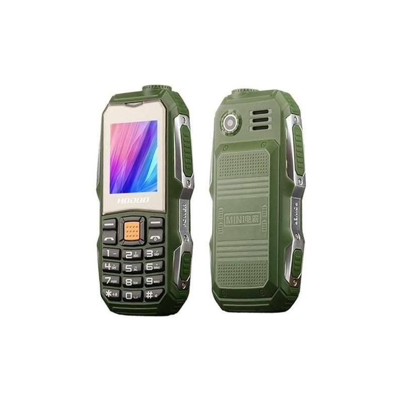 Telefon mobil militar rezistent la apa si socuri, dual SIM, verde
