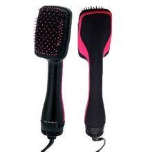 Perie electrica SIKS® cu aer cald, maner ergonomic, rezultate rapide, negru/roz