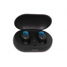 Casti wireless, rezistente la apa, microfon incorporat, autonomie de 6 h, negre