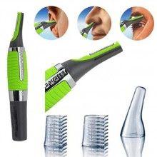 Trimmer facial, 2 accesorii incluse, cu acumulator, verde
