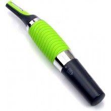 Trimmer SIKS® facial pentru conturarea barbii si a mustatii, ideal si pentru nas si urechi, 2 accesorii, cu acumulatori, verde
