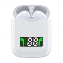 Casti Wireless Bluetooth SIKS®, rezistente la apa, sunet de inalta calitate, cu ecran digital, model I99, culoare alb