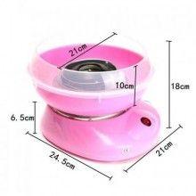 Masina EDAR® de facut vata de zahar, usor de utilizat si curatat, cu lingura si 10 bete, roz