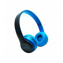 Casti Bluetooth Wireless P47 Albastru
