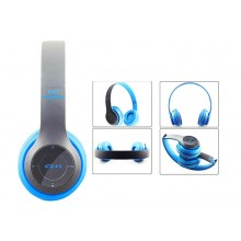 Casti Bluetooth Wireless P47 Albastru