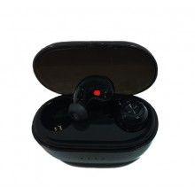 Casti Wireless SIKS®, cutie de incarcare, Bluetooth 5.0, distanta de transmisie 10m, cu super BASS, culoare Negru