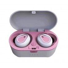 Casti Wireless SIKS® model CA207, Bluetooth V5.0, sunet de inalta calitate, microfon incorporat, reduce zgomotul, culoare roz