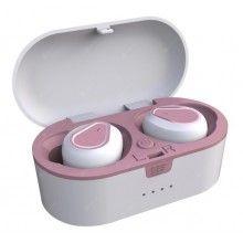 Casti Wireless Bluetooth 5.0 cu super bass si reducerea zgomotului 207 Roz