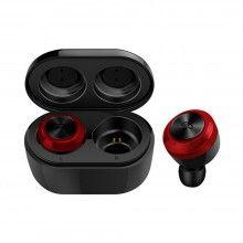 Casti bluetooth SIKS® fara fir DT-3, wireless, negru/rosu