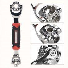 Cheie multifunctionala EDAR® 48 in 1, universala, rotire 360 grade, inclinare 45 grade, metal, foarte utila
