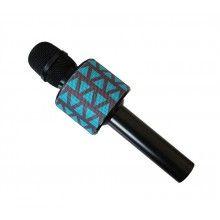 Microfon Karaoke Wireless cu Bluetooth, SIKS®, V8, Boxa inclusa, Reglaze de Sunet, Albastru
