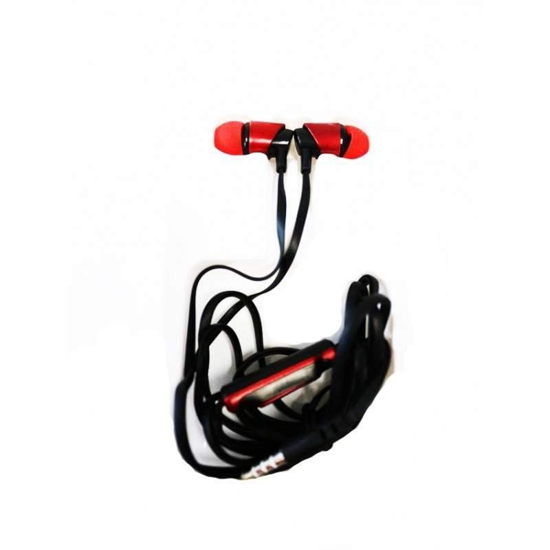 Casti audio SIKS® XTN01 in-ear cu fir si microfon, mufa Jack, super Bass, culoare rosu