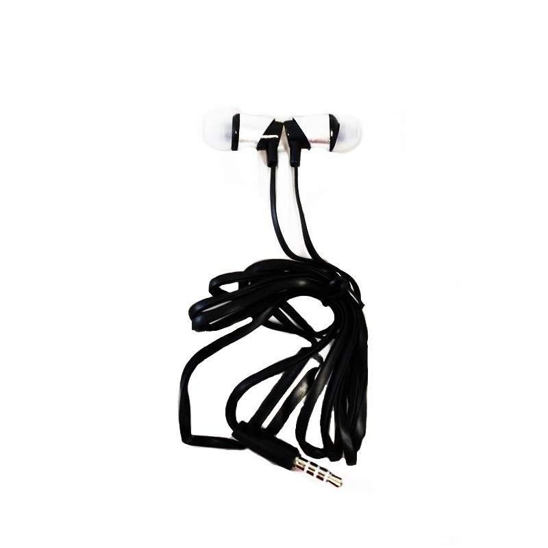 Casti audio SIKS® XTN02 cu fir si microfon super bass, gri