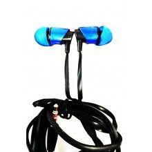Casti audio SIKS® XTN03 in-ear cu fir si microfon, mufa Jack, super Bass, culoare albastru