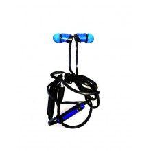 Casti audio XTN03 cu fir si microfon super Bass Albastru