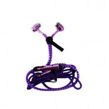 Casti audio SIKS® cu super Bass, mufa Jack 3.5mm, Fara Fire Incurcate, cu microfon incorporat, CZZ01, mov