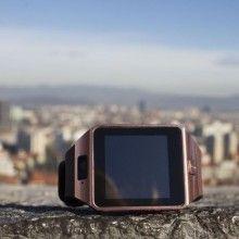 Ceas inteligent Premium SIKS®, baterie de 380 mAh, camera de 1.3 MP, cu micro sim, CPU MTK6572, Rose gold