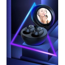 Casti Wireless LB10 cu oglinda inclusa Bluetooth 5.0 TWS rezistente la apa apeluri HD autonomie mare Negru