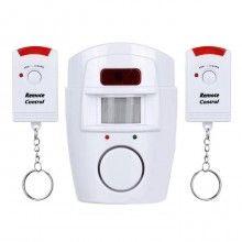 Alarma cu senzor de miscare SIKS® cu telecomanda, alba