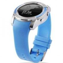 Smartwatch SIKS® touchscreen, cartela SIM, camera, functie bluetooth, alarma, notificari, albastru