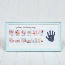 Rama foto cu amprenta bebelusului si 12 Poze